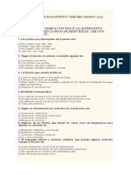 Prueba de Diagnóstico Cuarto Basico 2015