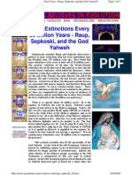Mass Extinctions Every 26 Million Years - Raup, Sepkoski, And the God Yahweh