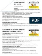 Campañas de Esterilización