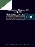 Names of ALLAH in Bible