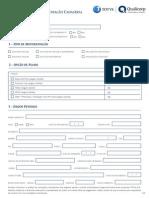 Formulario Assistencia Médica e Dental CLT Normal