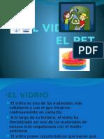 EL VIDRIO Y EL PET