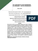 EDUCAÇÃO A DISTÂNCIA E SUAS DIFERENTES FORMAS DE APRENDER