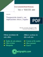 Transposición Dental y Sus Implicaciones Éticas y Legalesod055f