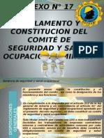 Reglamento y Constitucion de Comite de Seguridad y Salud Ocupacional Minera