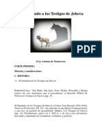 Contestando a Los Testigos de Jehova - Fray Antonio de Monterosso