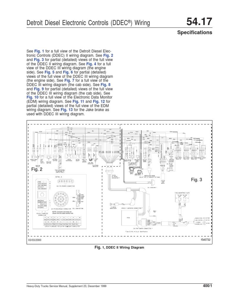 [DIAGRAM_09CH]  96596413 DDEC II and III Wiring Diagrams | Truck | Commercial Vehicles | Ddec 2 Wiring Diagram |  | Scribd