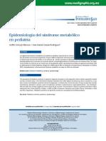 Epidemiología Del Síndrome Metabólico en Pediatríaeo133d