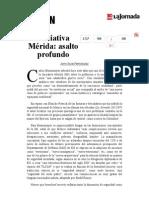 La Jornada- Iniciativa Mérida- Asalto Profundo