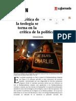 La Jornada- La Crítica de La Teología Se Torna en La Crítica de La Política