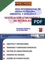 Destilación Atmosférica de Petróleo Taller Eidh