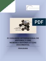 Programa IV Congreso Internacional de Historia y Cine