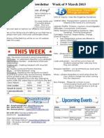 newsletter week of 090315