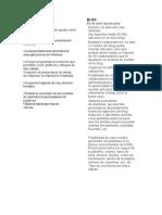 Paralelo de caracteristicas de word y blog