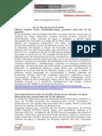 2014 08 20 - Foncodes - Sintesis Informativa