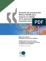 Acuerdo para mejorar las escuelas mexicanas OCDE