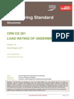 Load Rating of Underbridges