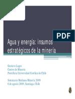 Agua y Energia - Insumos Extrategicos de La Mineria