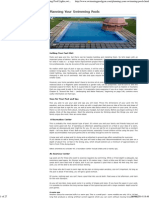 Swimming Pool Preparation