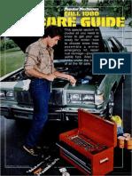 Car Care Guide - Popular Mechanics - Oct 1980