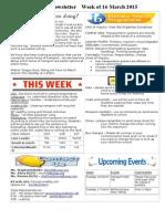 newsletter week of 160315