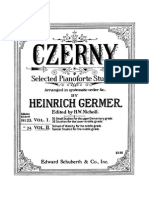 63727501 Czerny Selected Pianoforte Studies Book I Part I II Edition Germer