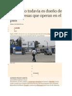 El Estado Todavía Es Dueño de 35 Empresas Que Operan en El País