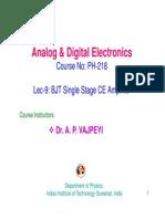 BJT Single Stage CE Amplifier
