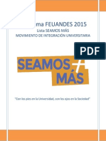 Programa Lista SEAMOS MÁS - Feuandes 2015