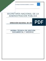 Norma Técnica de Gestión Documental y Archivo