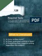 Lit 128 -introduction