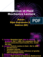 Syllabus of Fluid Mechanics