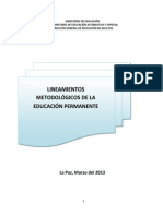 Lineamientos Metodoligicos de La Educación Permanente