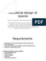 Acoustical Design of Spaces