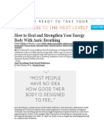 How to Heal and Strengthen Your Energy Body With Auric Breathing