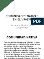 Comunidades Nativas en el Vraem