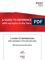 Harvard Referencing Guide Jan 2013