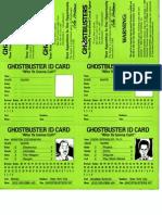 Ghostbusters RPG - Item Cards 2