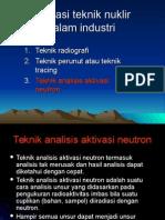 Aplikasi Teknik Nuklir -Industri