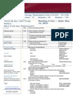 14 ETMC COA Meeting Agenda