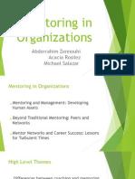 Mentoring in Organizations SLIDES