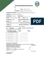 Ficha de Evaluacion Psicologica