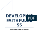 Developing Faithfulness