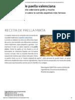 Receta de Paella Mixta _...Re Éste Plato de Arroz