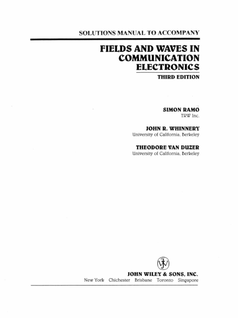 Solution manual for fields and waves in communication electronics solution manual for fields and waves in communication electronics 3rd edition fandeluxe Choice Image