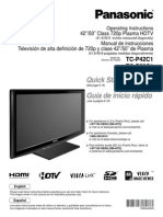 Panasonic TV Manual-TCP42C1
