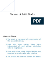Torsion of Solid Shafts