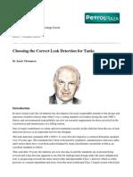Choosing the Correct Leak Detection for Tanks