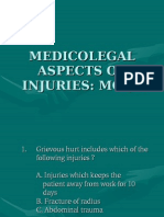 Medico-legal Aspects of Injuries