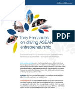 Tony Fernandes on Driving ASEAN Entrepreneurship
